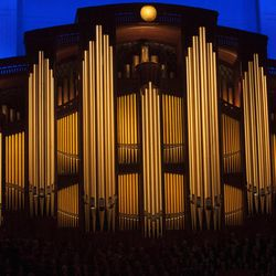 The organ pipes of the Conference Center. Sunday afternoon session of the 183rd Semiannual General Conference for the Church of Jesus Christ of Latter-day Saints Sunday, Oct. 6, 2013 inside the Conference Center.