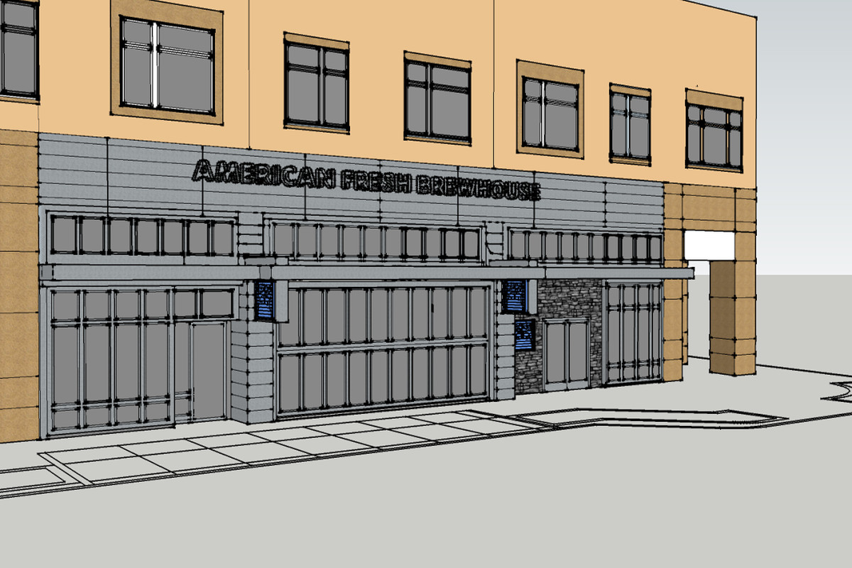 Rendering of future Slumbrew expansion at Assembly Row