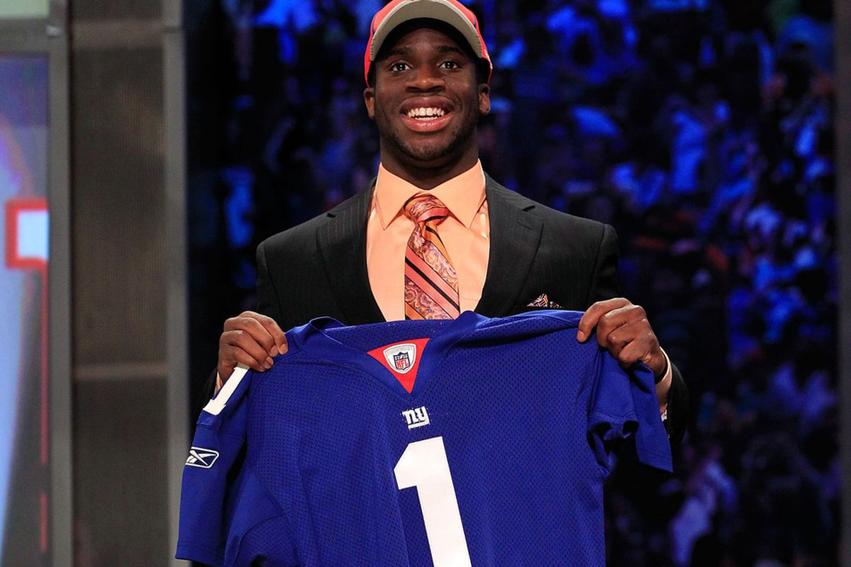 Prince Amukamara when he was selected by the Giants in 2011