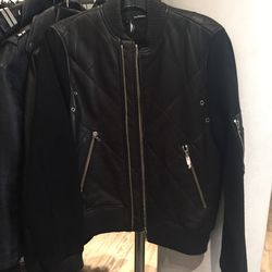 Leather jacket, size small, $295 (from $995)