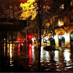 """Here's what the Meatpacking District looked like last night, courtesy non-stop Twitterer <a href=""""https://twitter.com/NigelBarker/status/263068442276536320"""">@NigelBarker</a>"""