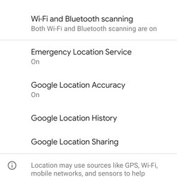 """<em>Select """"Advanced"""" to gain access to various location permissions.</em>"""