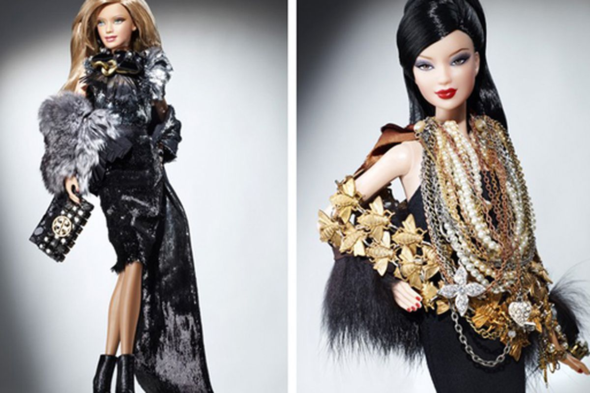 """Tory Burch Barbie and Justin Giunta Barbie images via <a href=""""http://www.wwd.com/fashion-news/couture-houses-turn-to-asia-for-rejuvenation-2429163?module=today#"""">WWD</a>"""