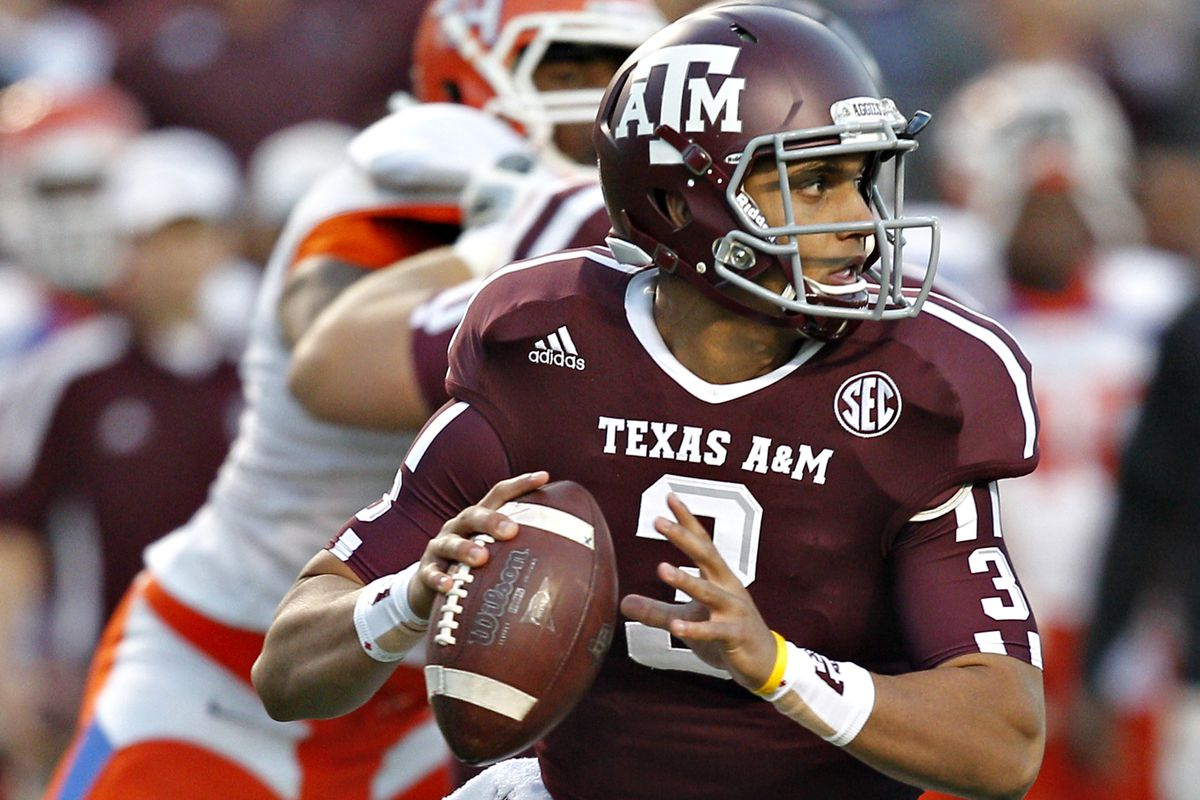 47d41281c Johnny Manziel backup Jameill Showers to transfer from Texas A M ...