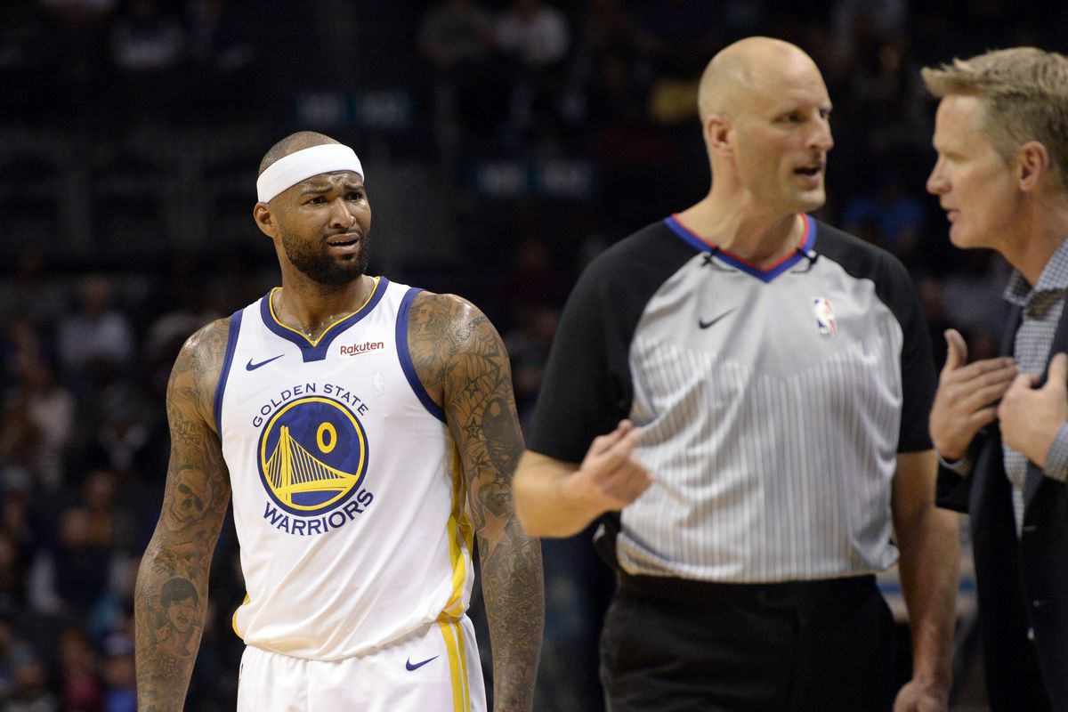 various colors 94753 67162 Warriors news: NBA rescinds DeMarcus Cousins' technical foul ...
