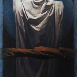 "Artist Ron Richmond's oil on canvas, ""Interim,"" is part of the first Mormon Arts Center Festival."