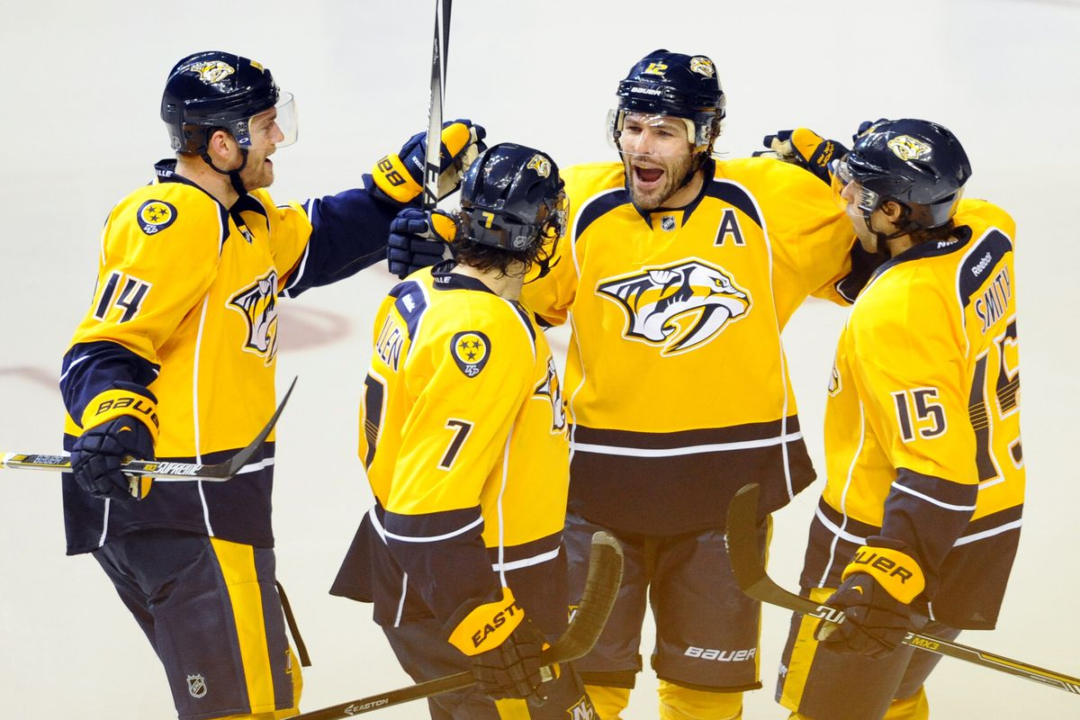 Everyone is very happy for Mike Fisher today. See?
