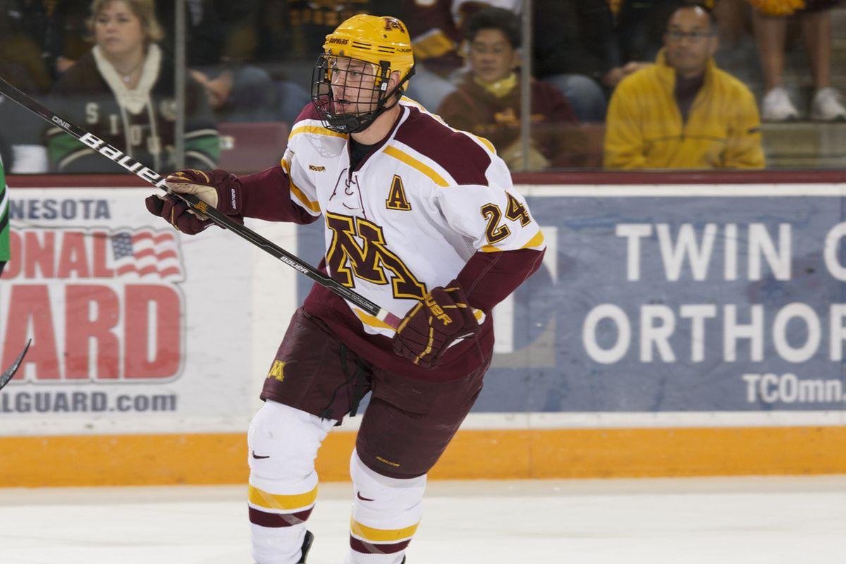 University of Minnesota forward Zach Budish