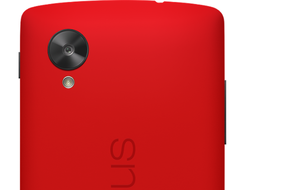 Google's Nexus 5 is now available in bright red - The Verge
