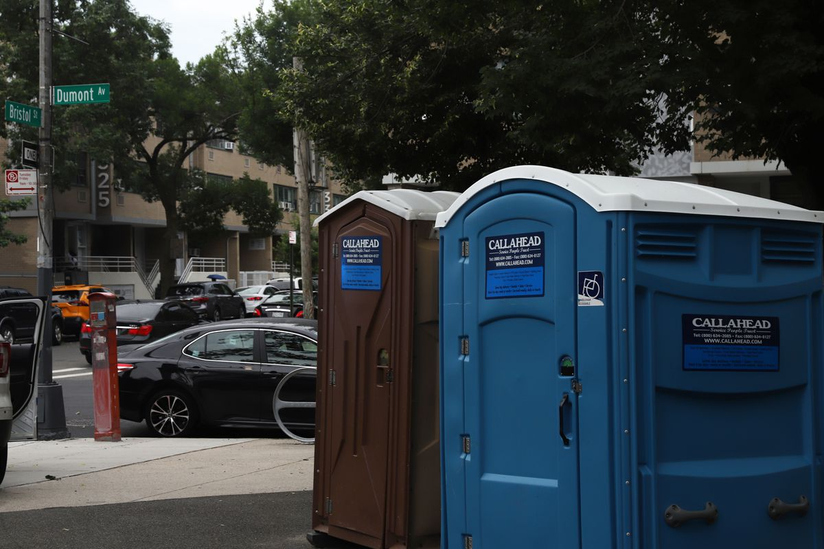 Temporary bathrooms for Betsy Head parkgoers are relatively far from the most used parts of the park and hard to find, locals say.