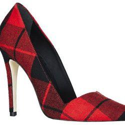 "<b>Alice + Olivia</b> Dina Overcheck Tartan Heel, <a href=""http://www.aliceandolivia.com/dina-overchk-tartan-heel.html"">$345</a>"