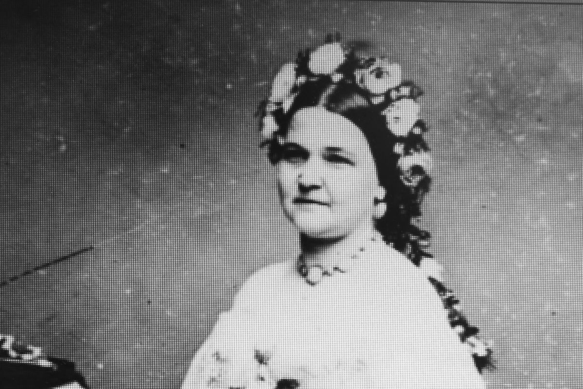 The image of a photograph of Mary Todd Lincoln taken in Washington by Mathew Brady in January, 1862, from a DVD provided by the Abraham Lincoln Presidential Library and Museum.