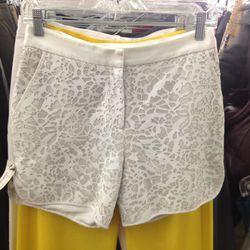 <b>Prabal Gurung</b> lasar-cut shorts, $419