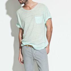 """<b>Zara</b> Linen T-Shirt, <a href=""""http://www.zara.com/webapp/wcs/stores/servlet/product/us/en/zara-us-S2012-s/244949/793004/LINEN%2BT-SHIRT"""">$14.99</a> (was $35.90)"""