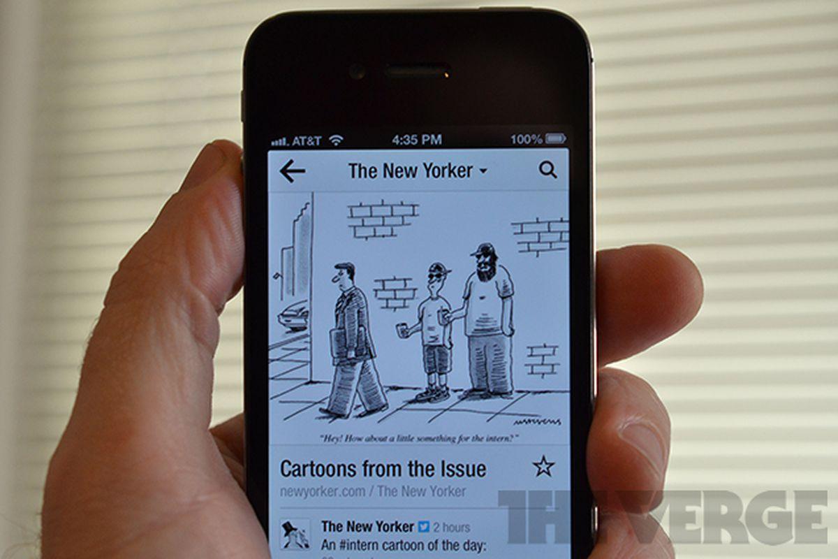 New Yorker Flipboard iPhone