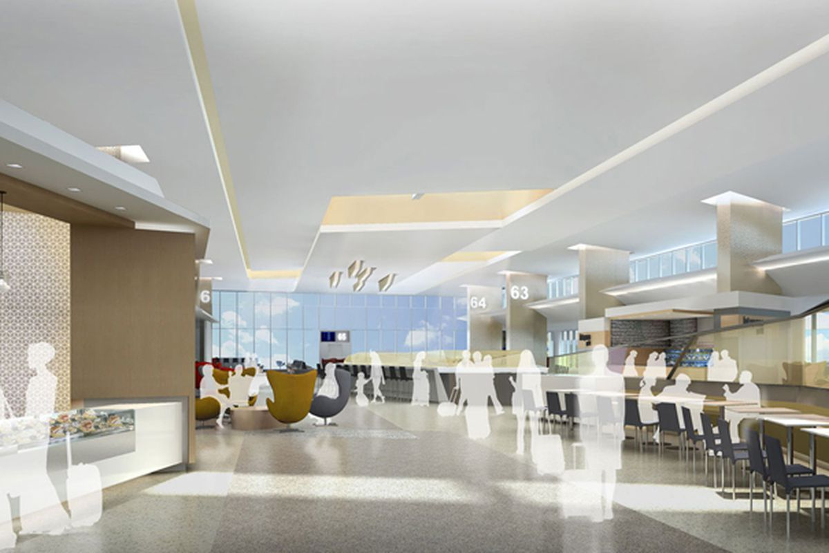 """Rendering of the new Terminal 3 via <a href=""""http://www.flysfo.com/"""">SFO</a>"""