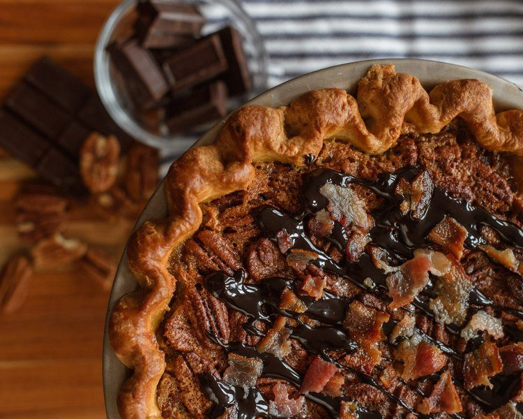 A chocolate bacon bourbon pecan pie.