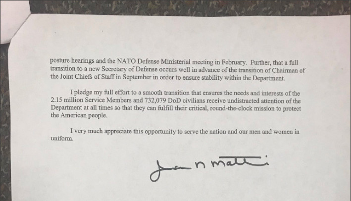 James Mattis quits: Read his resignation letter critiquing ...