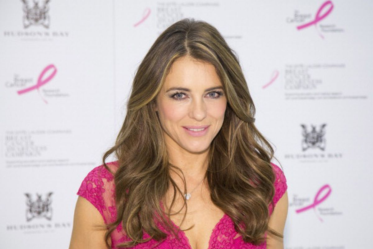 Elizabeth Hurley will make an appearance at Neiman Marcus NorthPark on June 18. Via Getty Images