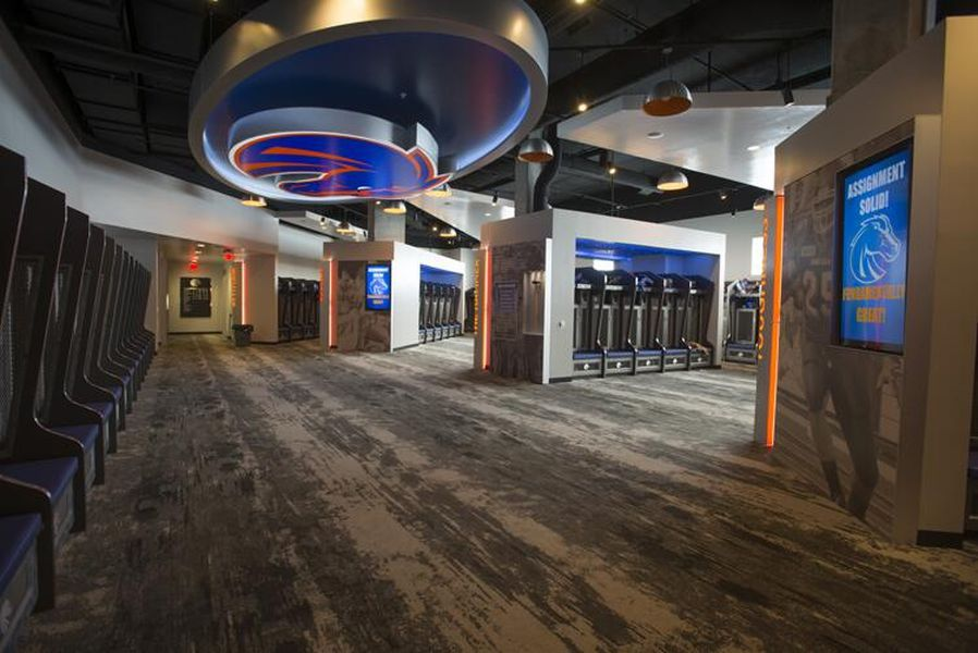 The New Boise State Football Lockerroom Complete With