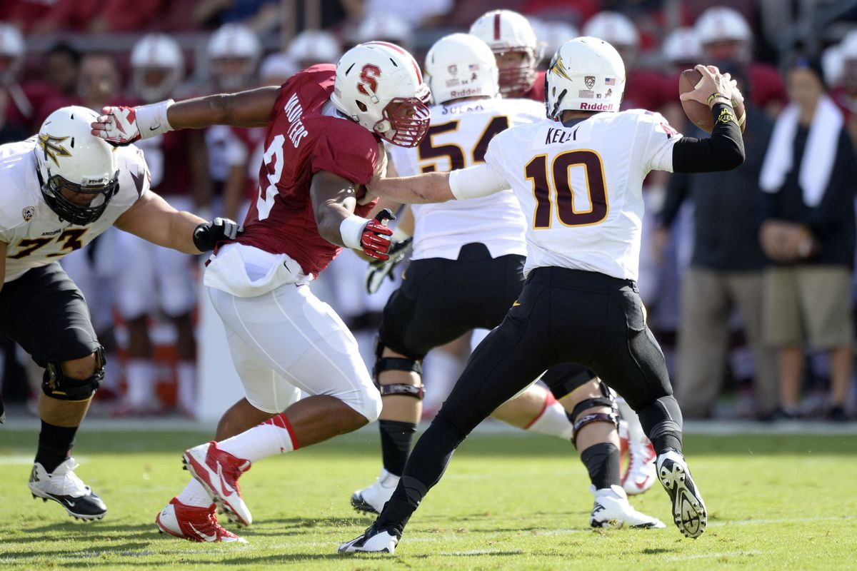 Stanford beat ASU at the Farm.  The rematch is in Tempe and the winner gets Roses.