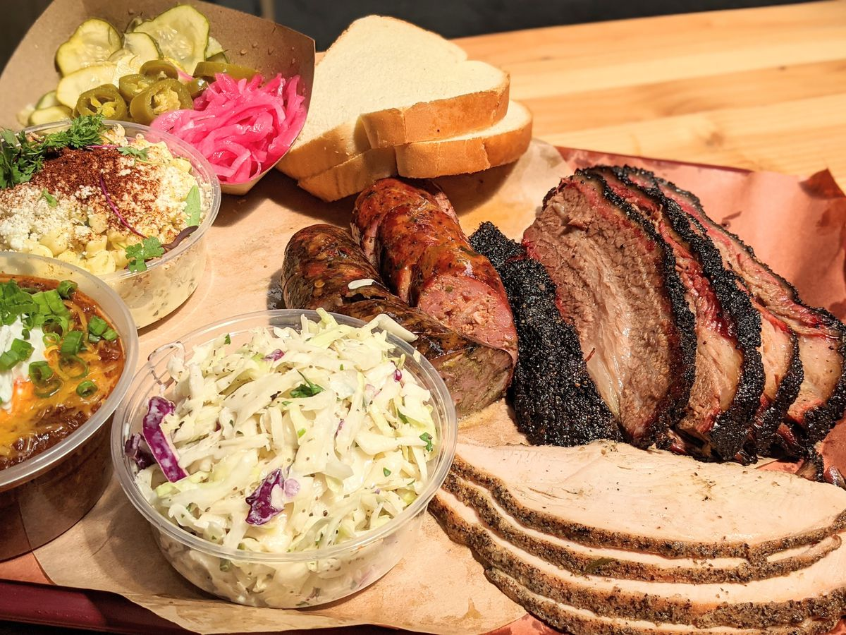 Brisket, smoked turkey, and more at Moo's Craft Barbecue in Lincoln Heights.