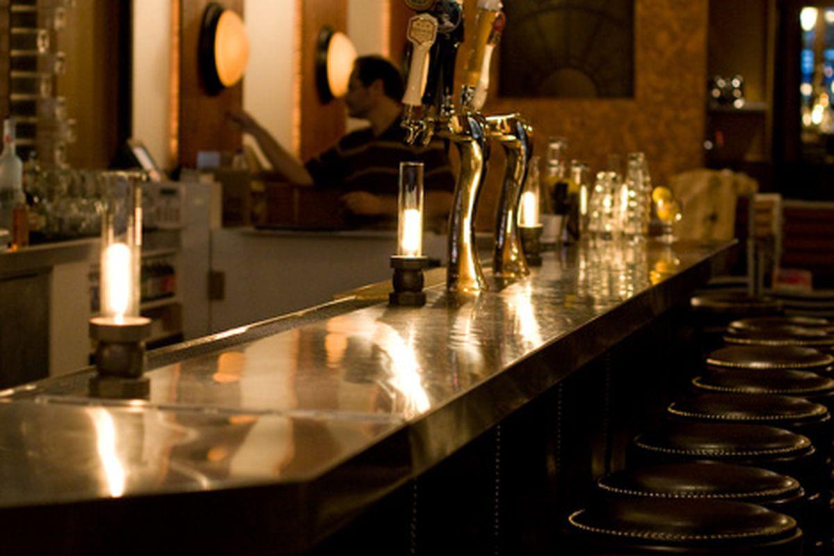 Quiet bar at Belden's Trademark.
