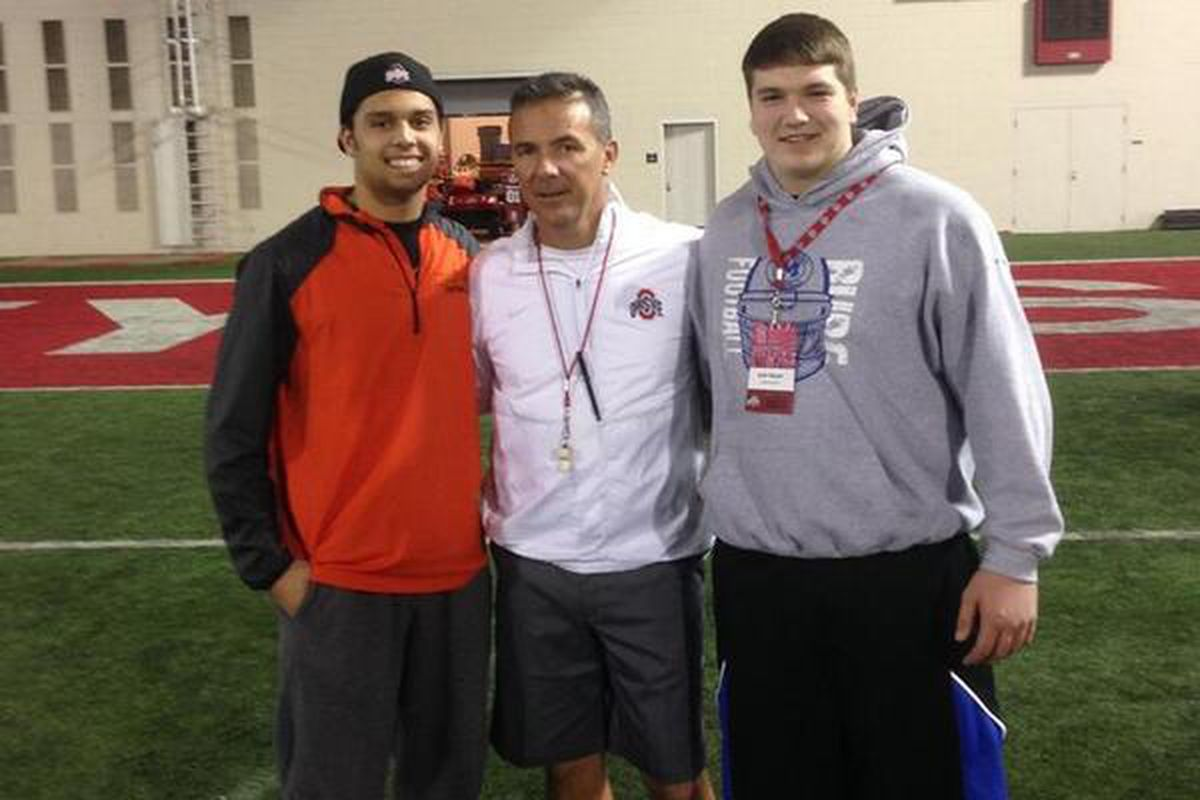 Josh Myers (right) has committed to Ohio State.