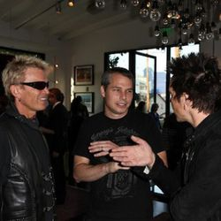 Billy Idol, Shepard Fairey, and Billy Morrison. Image courtesy of Chelsea Lauren