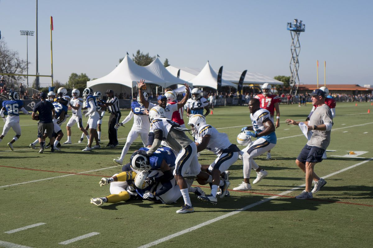 NFL: Los Angeles Rams and Los Angeles Chargers Practice
