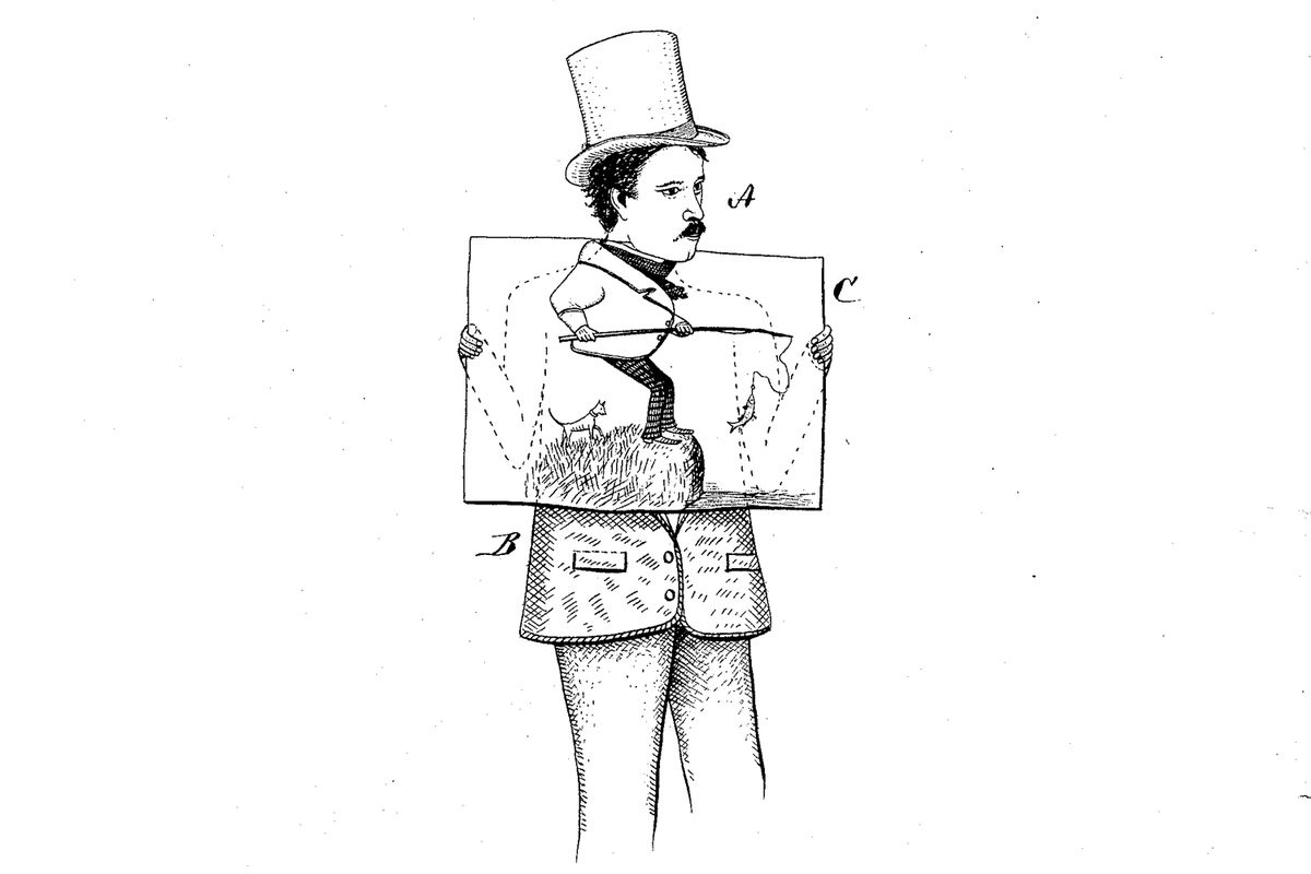 An illustration from the patent for comic foregrounds.