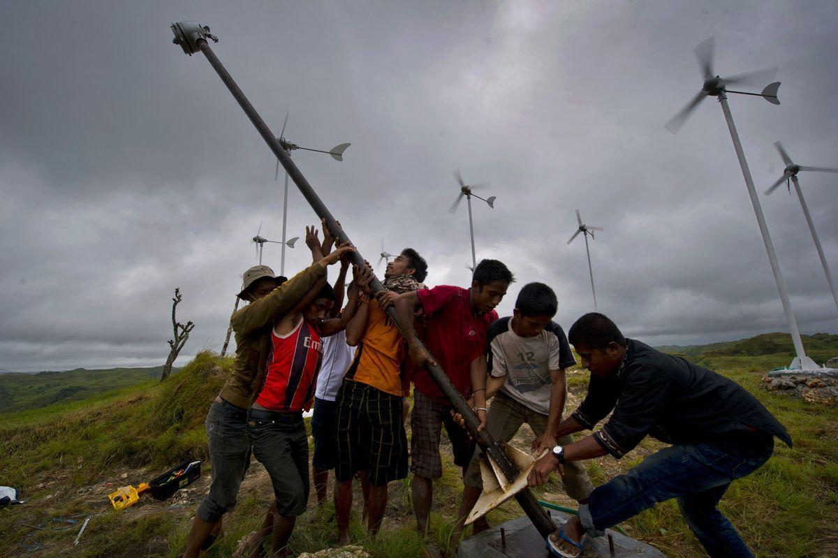 Wind farm in Sumba, Indonesia