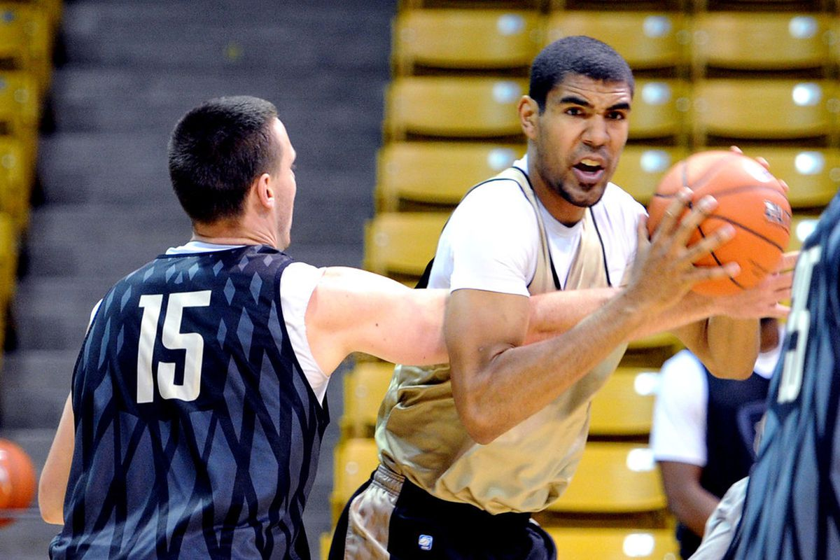 Josh Scott was the leading scorer for the Buffs in his first ever game at the college level.