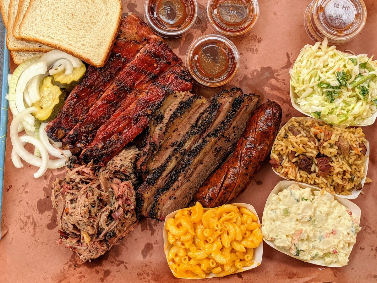 Barbecue from Ray's Halal Texas BBQ in Huntington Park.