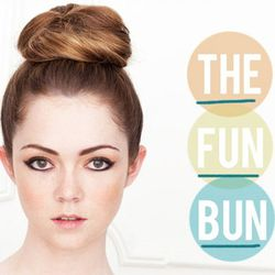 """<a href=""""http://thebeautydepartment.com/2011/07/in-a-rush-forget-the-brush/"""" rel=""""nofollow"""">The Fun Bun</a>"""