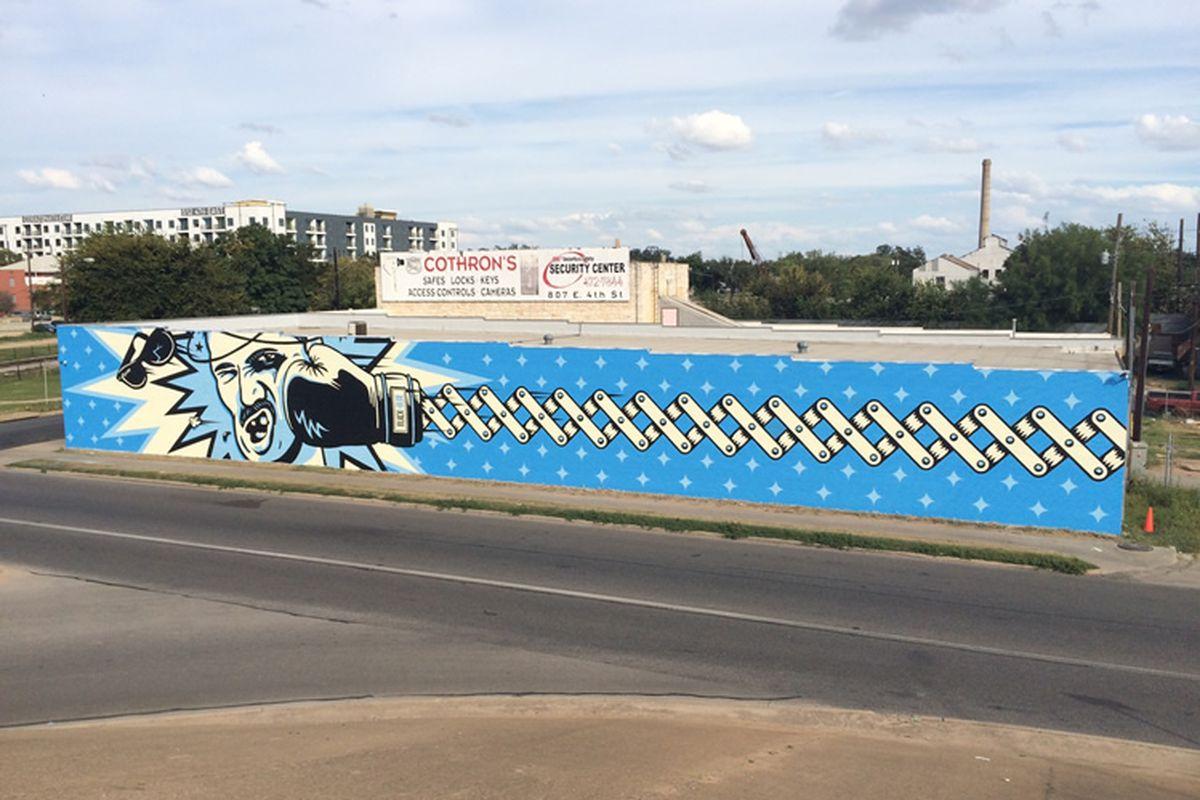 Cuvee's Black & Blue Wall