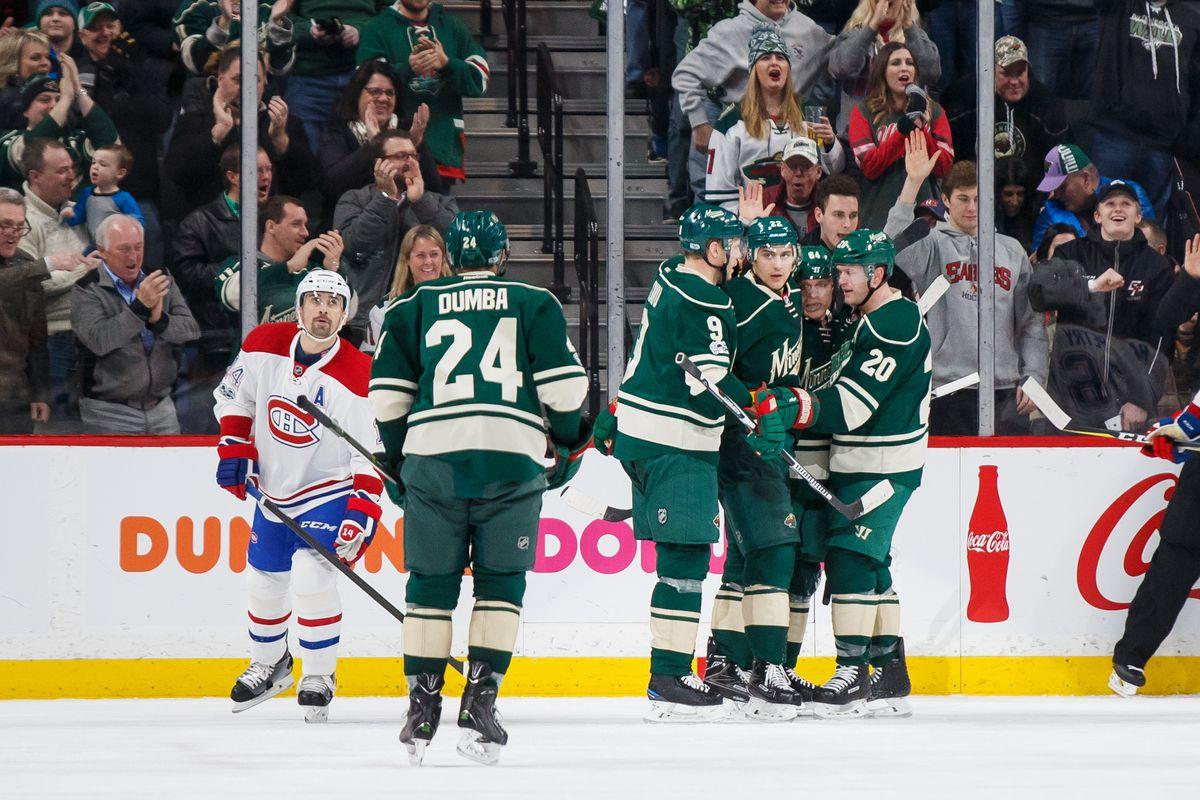 NHL: Montreal Canadiens at Minnesota Wild