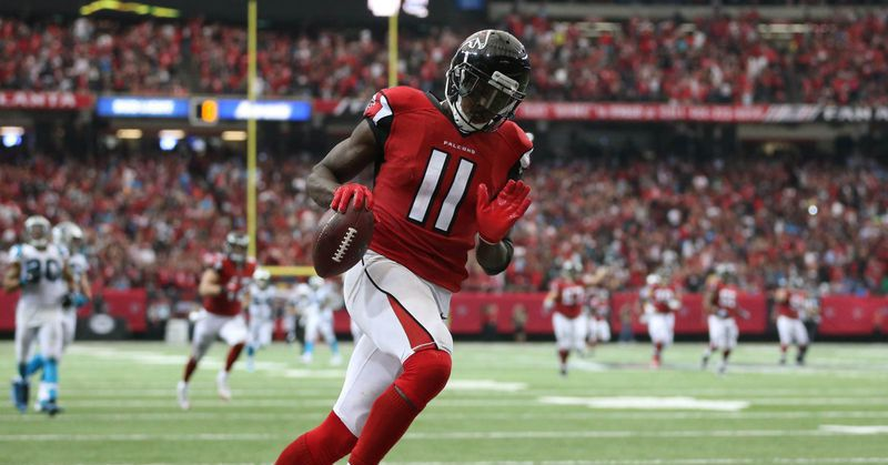 Julio Jones has the most receiving yards in NFL history vs. Panthers, Buccaneers, and Packers