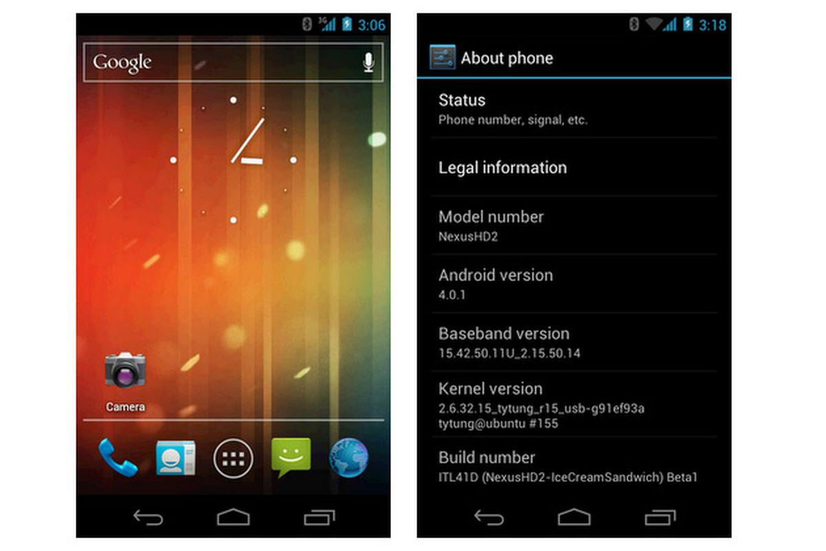 Android 4 0 AOSP ported to HTC HD2 - The Verge