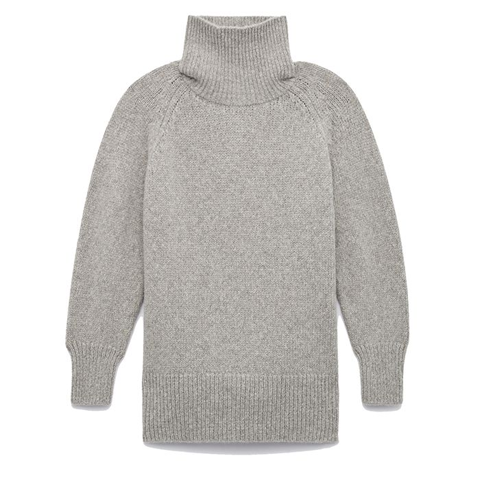 gray turtleneck sweater from the group by babaton