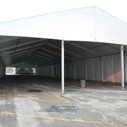 Another look inside the VIP/players parking tent -