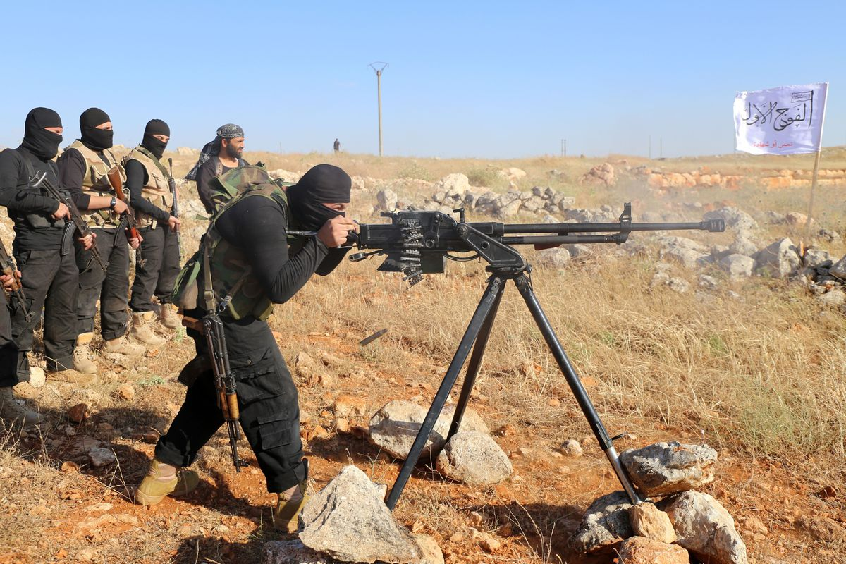 syrian rebels trianing