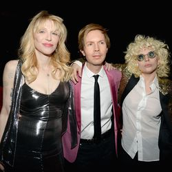 Courtney Love, Beck, and Lady Gaga at Saint Laurent. Photo: Kevin Mazur/Getty Images