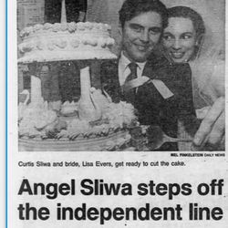 """<a class=""""ql-link"""" href=""""https://www.newspapers.com/clip/81961659/daily-news/"""" target=""""_blank"""">Dec. 24, 1981</a>:Sliwa marries Lisa Evers, then a member of the Guardian Angels, on Christmas Eve. The pair head straight to St. Louis for their """"honeymoon"""" — where they stay in public housing there to draw attention to its decrepit conditions."""