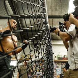 Robert Whittaker poses for UFC 234 media workout.