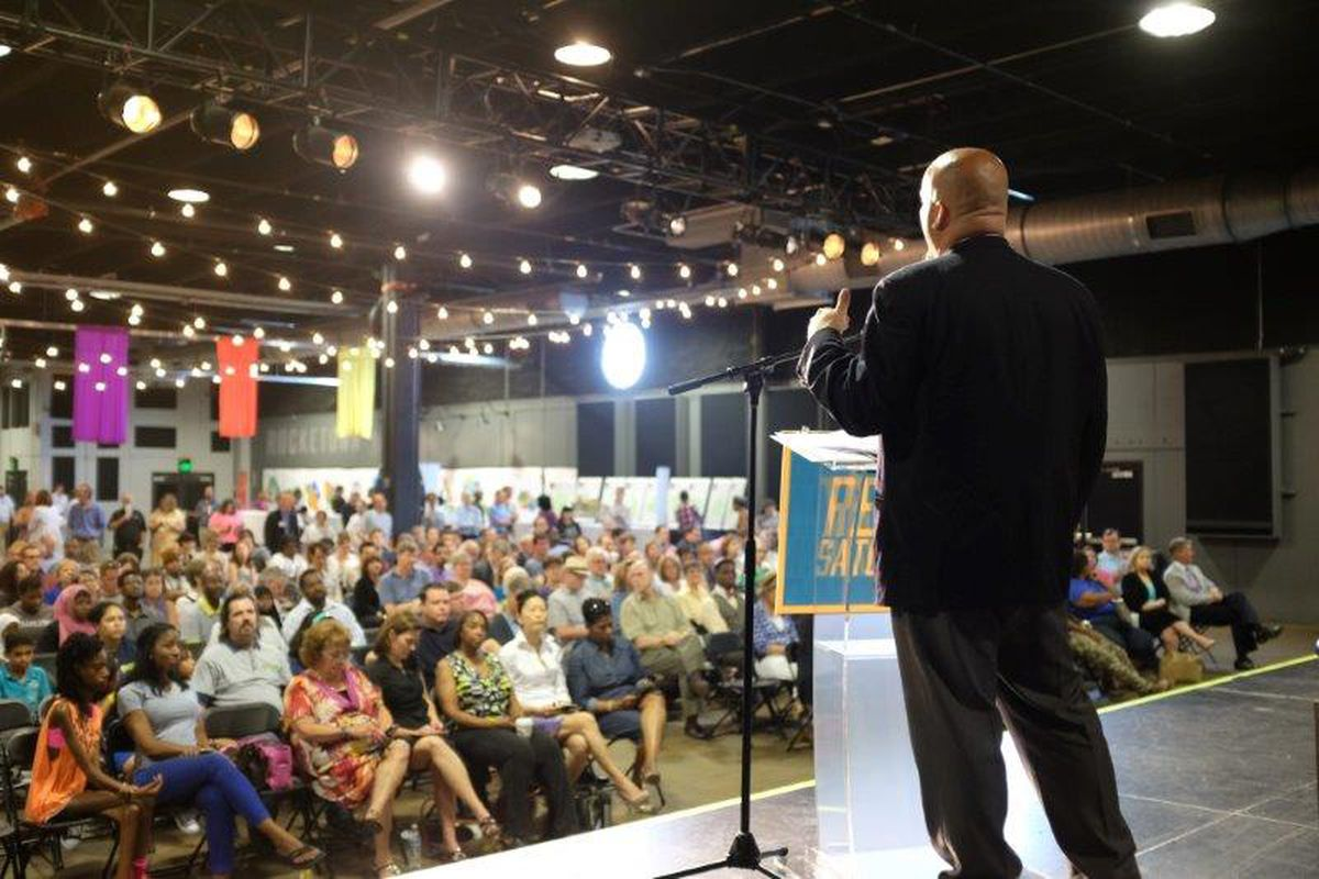 More than 700 people gather to talk about public education in Nashville during a Project RESET forum on May 30.