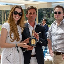 """<span class=""""credit"""">Royal Salute Scotch Whisky ambassador the Duke of Argyll (center) with actress Talulah Riley and Elon Musk. Wonder if that was <a href=""""http://www.huffingtonpost.com/2012/01/19/elon-musk-divorce_n_1216394.html"""">awkward</a>? Photo by D"""