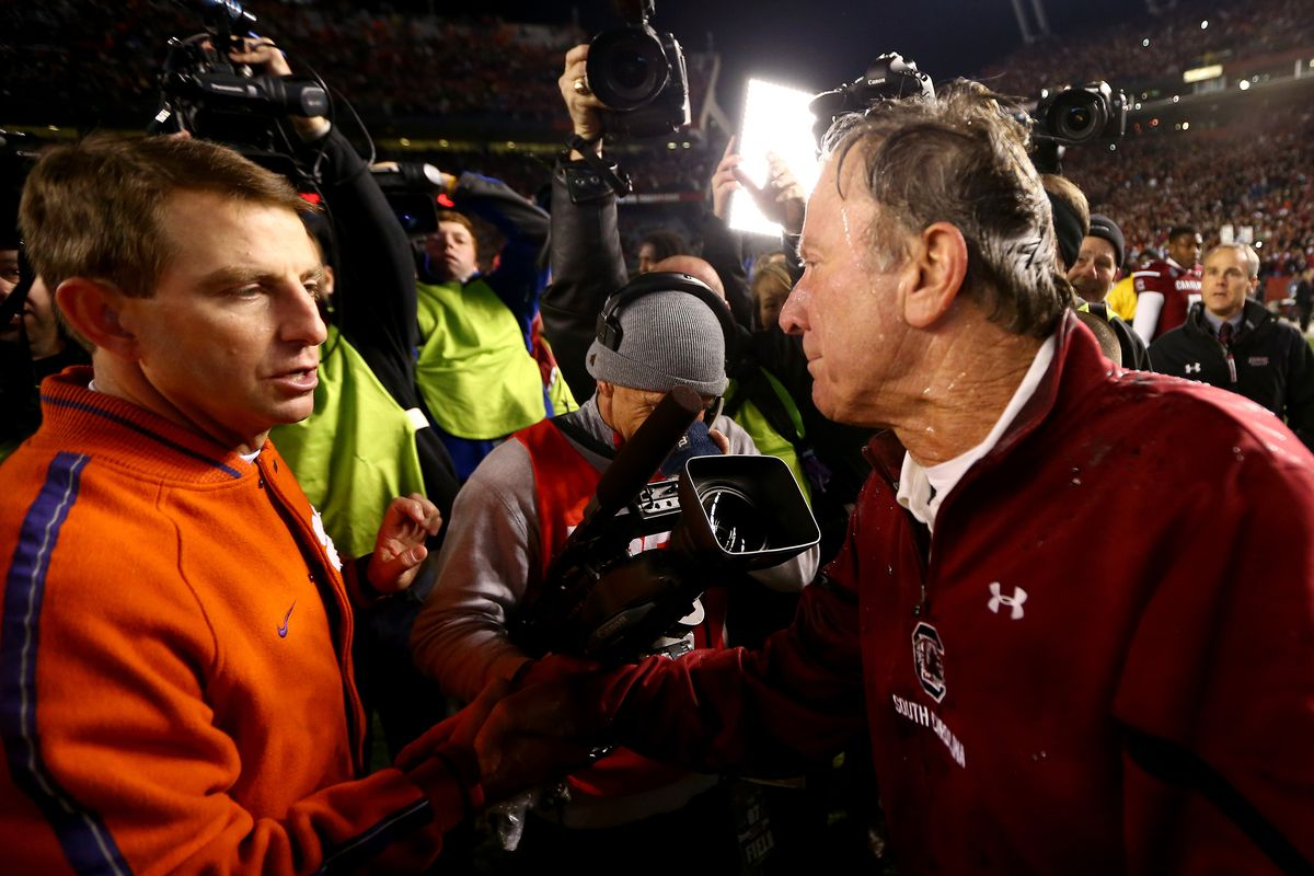 Steve Spurrier and Dabo Swinney, along with their teams, were respectful of one another on Saturday.  Let's stir up controversy anyway!