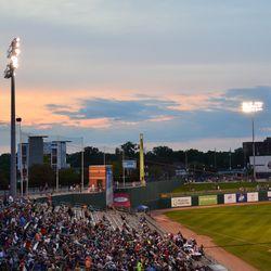 Sunset over the ballpark