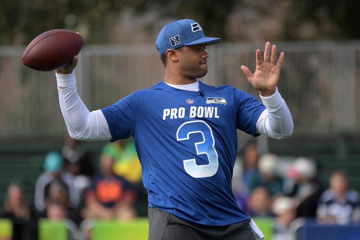 buy popular 1bf59 7f9e7 2019 Pro Bowl Skills Challenge Highlights: Russell Wilson ...